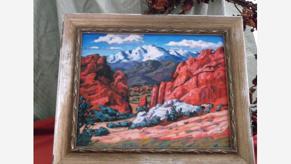 Original Acrylic Painting - Red-Rocks Formation