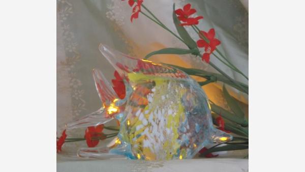 Murano-Art-Glass Figurine - Angelfish - Free Shipping!