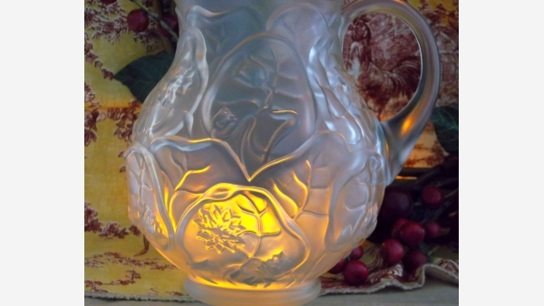 home-treasures.com - Fenton Satin-Glass Ewer - Free Shipping!