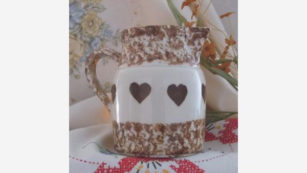 Cottage-Style Roseville Spongeware Pitcher - Free Shipping!