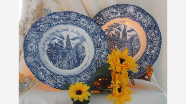 Staffordshire Soup Bowls - Set of Two - Free Shipping!