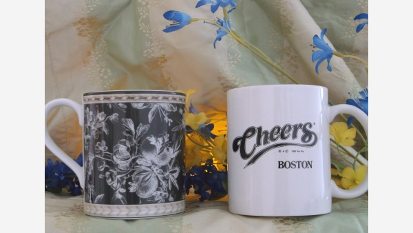 """Pair Collectible Coffee Mugs - Royal Doulton and """"Cheers"""" - Free Shipping!"""