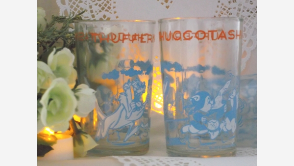Looney-Tunes Vintage Juice Tumblers - Set of Four