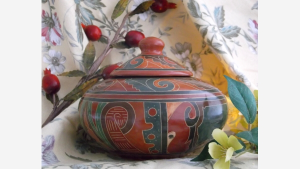 Handcrafted Nicaraguan Pottery - Warm Tones and Rich Patterns - Free Shipping!