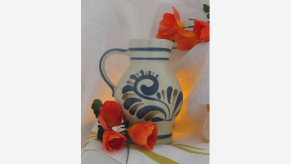 German Handcrafted Stoneware Ewer - A Fine Gift! - Free Shipping!