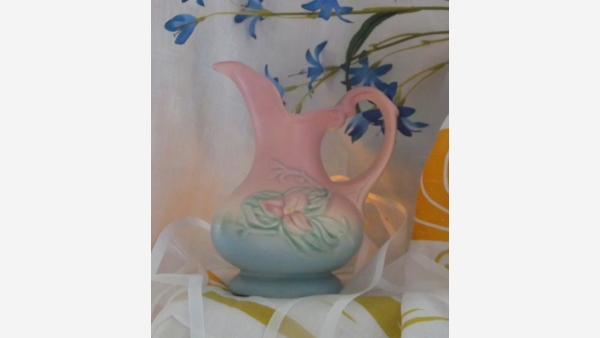 Vtg. HULL Art Pottery Ewer in Wildflower Design - A Fine Gift! - Free Shipping!