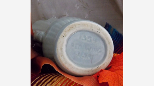 home-treasures.com - Red Wing Gray Vase - Vtg. Collector's Piece