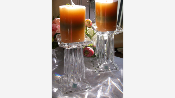 home-treasures.com - Crystal PartyLite Pillar Holders - Free Shipping!