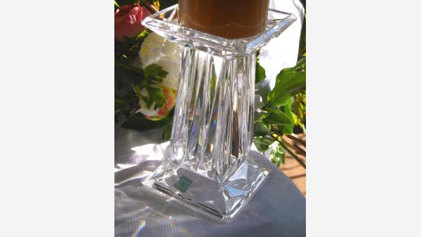 home-treasures.com - Pair of Crystal Pillar Holders - Free Shipping!
