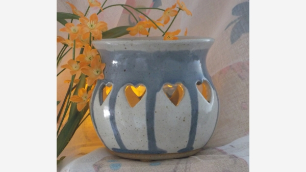 Pair Rustic Handcrafted Votives - Free Shipping!