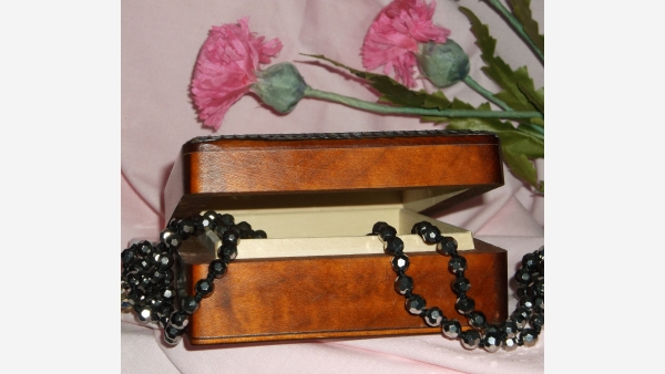 European Handcrafted Wood Jewelry Box - Hinged Lid