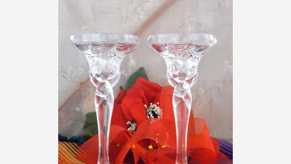 home-treasures.com - Crystal Taper Holders - Pair - Free Shipping!