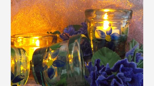 "home-treasures.com - ""Sea-Glass"" Votives - Set of 4 - Free Shipping!"