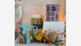 Gift-Quality Fine China Coffee Mugs - Set of Three - Free Shipping!