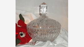 Crystal Footed Candy Dish and Lid - Gift Quality