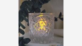 Crystal Tea-light Holder - Victorian Lace Pattern
