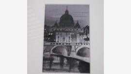 Original Watercolor - European Bridge