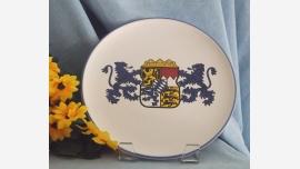 Decorative Regal Glazed Plate - Vogt Keramik Rosenheim - Free Shipping!