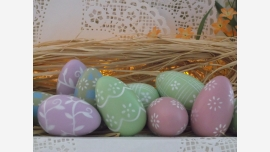 Set of Pastel Decorative Easter Eggs - Original Box Included