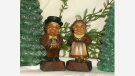 Wooden Vintage ANRI Italy Figurines