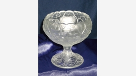 Fenton Water Lily Compote Dish