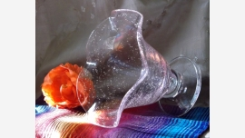 home-treasures.com - Pale Pink Art-Glass Compote - Free Shipping!