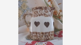 Cottage-Style Roseville Spongeware Pitcher - Free Shipping!