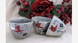 home-treasures.com - WEG Pottery Cups - Set of 3 - Free Shipping!