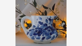 Delft-Blue Handpainted Cottage Pitcher