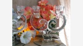 home-treasures.com - Glass Candelabra Pair - Free Shipping!