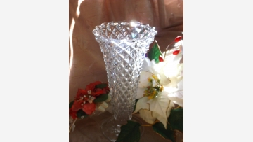 Glittering Vase - A Vintage Treasure - Free Shipping!