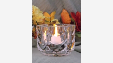 Stylish Crystal Votive - Six-Sided and Elegant - Free Shipping!