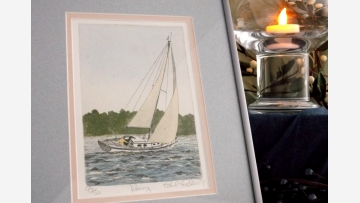 Racing Yacht - Signed/Numbered-Print/Etching - Free Shipping!