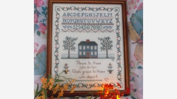 Rare Alphabet Sampler - Fine Needlework - Free Shipping!