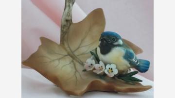 "Bisque Bluebird Figurine - ""Capodimonte"" - Free Shipping!"