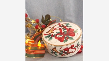 MIKASA Holiday Candy-Dish - Vibrant Colors - Free Shipping!