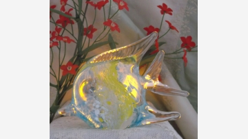 Murano-Style Angelfish Figurine - A Lovely Gift! - Free Shipping!