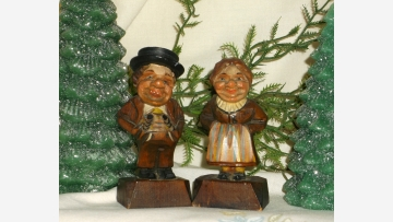 """ANRI"" Carved Figures - Collectible and Rare - Free Shipping!"