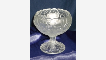 """Fenton Glass Compote Dish - """"Water Lily"""" Design - Free-Shipping!"""