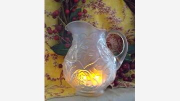 Fenton Satin-Glass Ewer