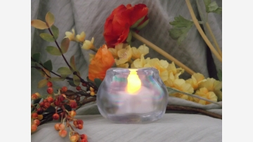 Opalescent Votive/Tea-light Holder - Free Shipping!