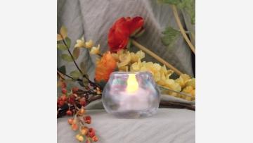 Opalescent Votive/Tea-light Holder - Free Shipping!