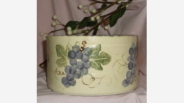 Hand-crafted Crock - Lovely Grapevine Design - Free Shipping!