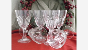 Water Goblets (6) - Elegant and Nicely Shaped - Free Shipping!
