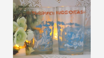 """Retro Tumblers with """"Looney Tunes"""" Imagery - Set of Four - Free Shipping!"""