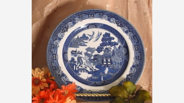 """Willow"" Plates (Set 4) - Classic Oriental Design - Free Shipping!"