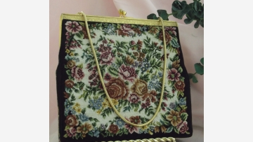 """Petit-Point"" Purse - Fine Vtg. Needlepoint - Free Shipping!"