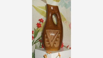 """Sioux Indian"" Vintage Pottery - Signed by Artist - Free Shipping!"