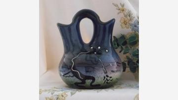 """Kokopelli"" Wedding Vase by Mana USA - Free Shipping!"