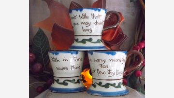 "Vtg. ""Motto"" Ware - English Torquay Pottery - Free Shipping!"